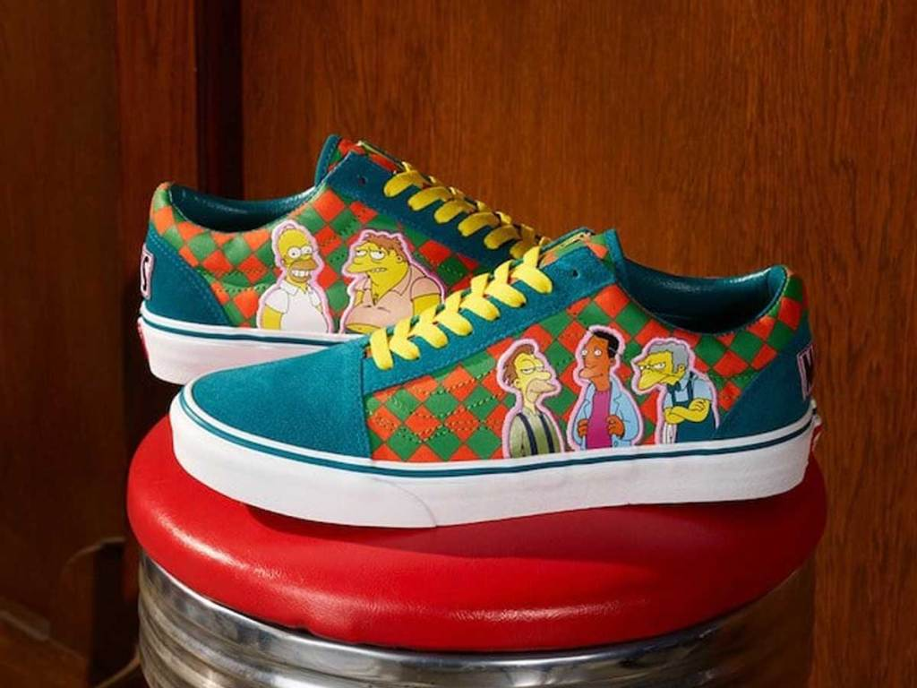 pair of shoes with television characters on them