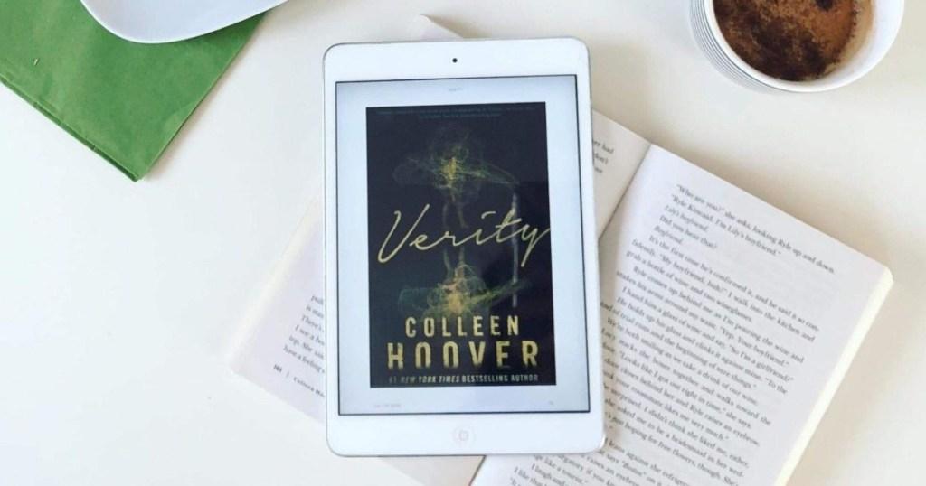 Couverture de livre Verity sur iPad