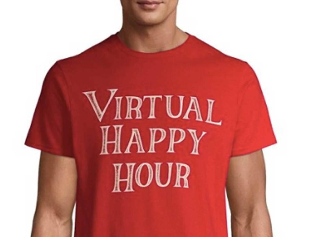 virtual happy hour tshirt