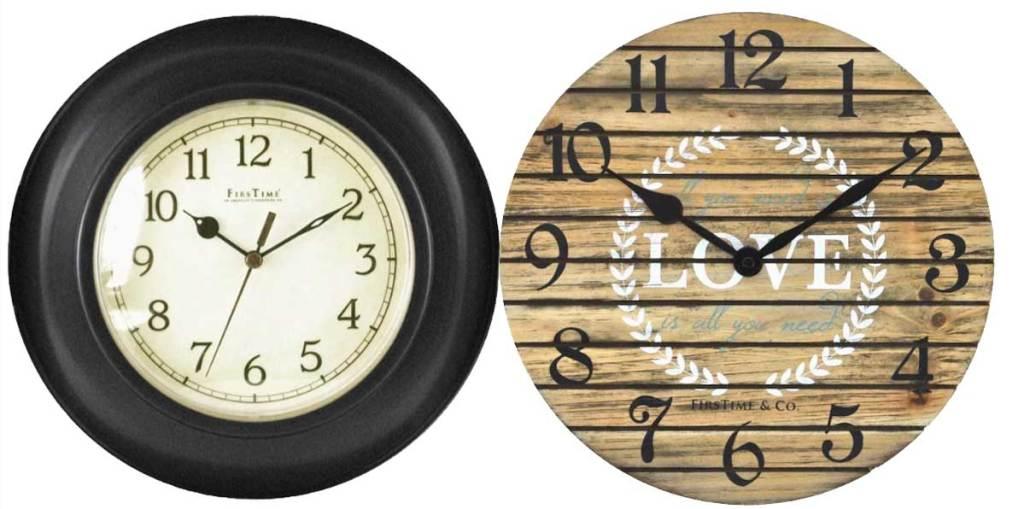 two wall clocks