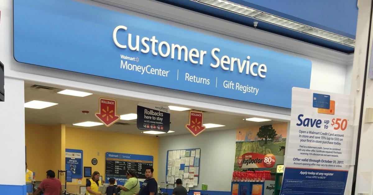 Walmart Customer Service area