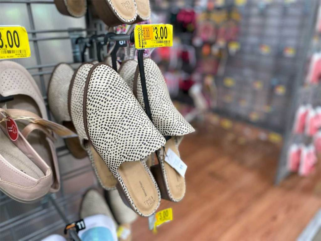 pair of women's mule shoes on clearance