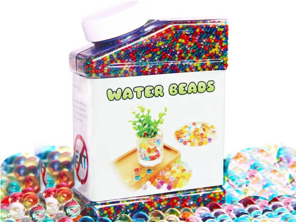 container of water beads