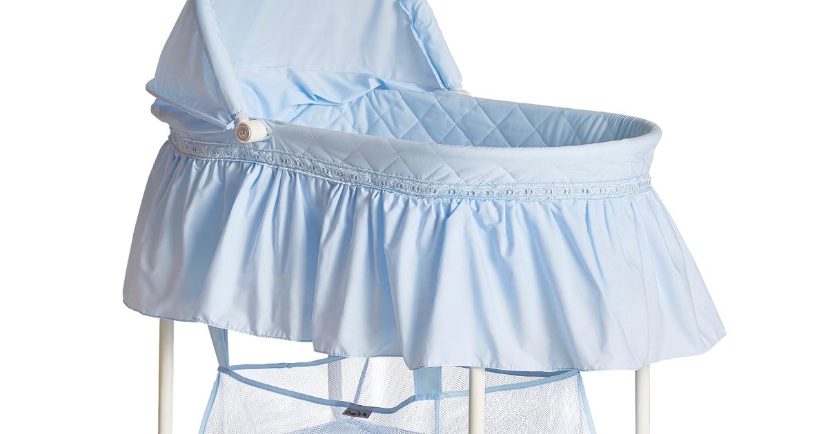 top portion of blue bassinet
