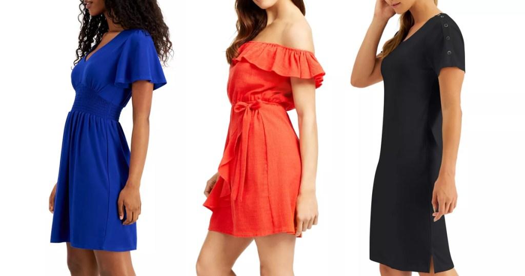 women wearing dresses