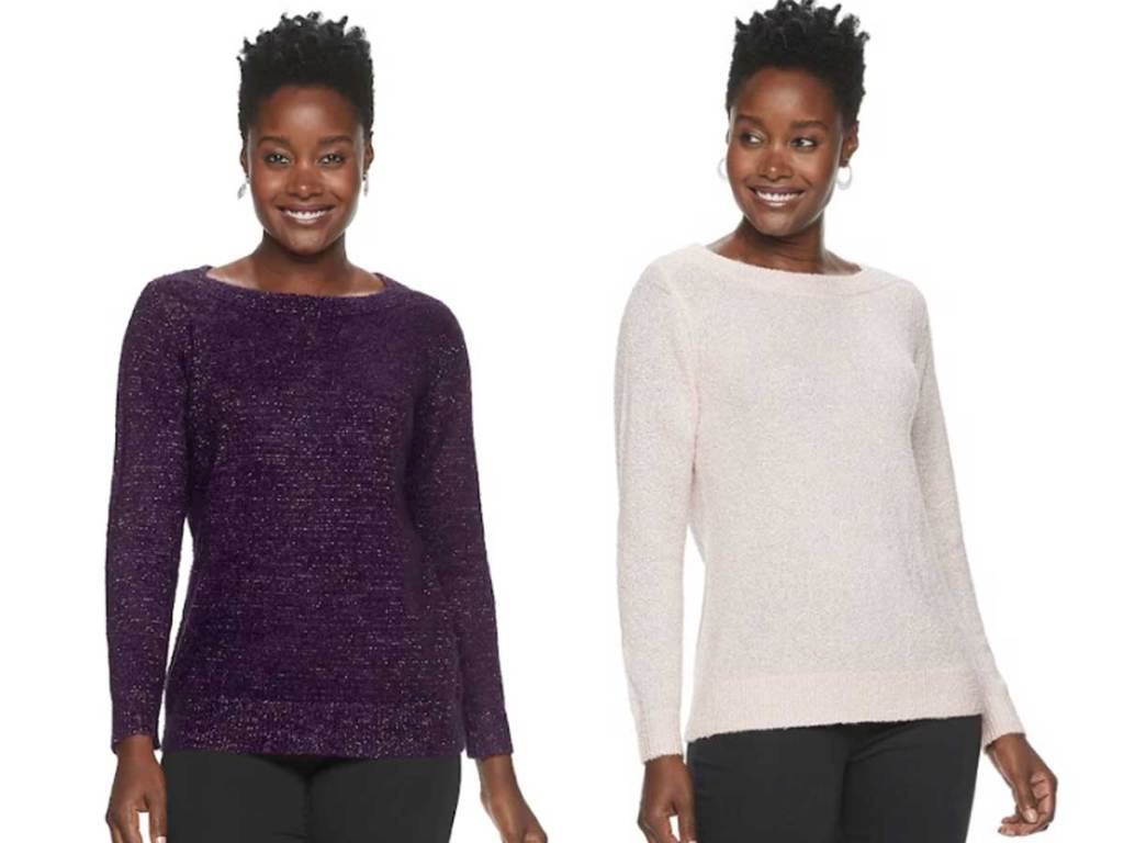women's boatneck sweaters