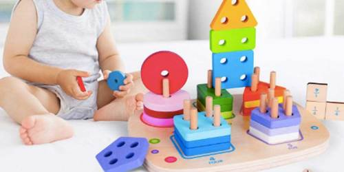 Wooden Sorting & Stacking Puzzle Only $15 on Amazon (Regularly $36) | Great Reviews