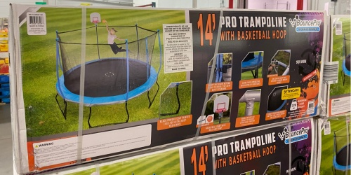 14′ Trampoline w/ Safety Enclosure & Basketball Hoop Just $239.98 at Sam's Club