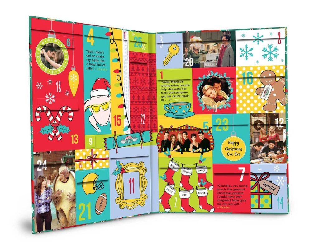 white stock photo of friends advent calendar