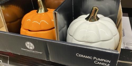 Large Pumpkin Candles w/ Reusable Jar Only $6.99 at ALDI