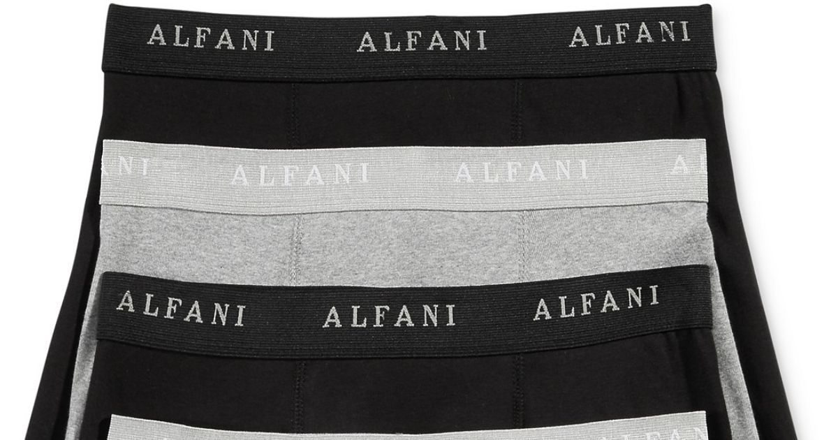 ALFANI black and gray boxer briefs