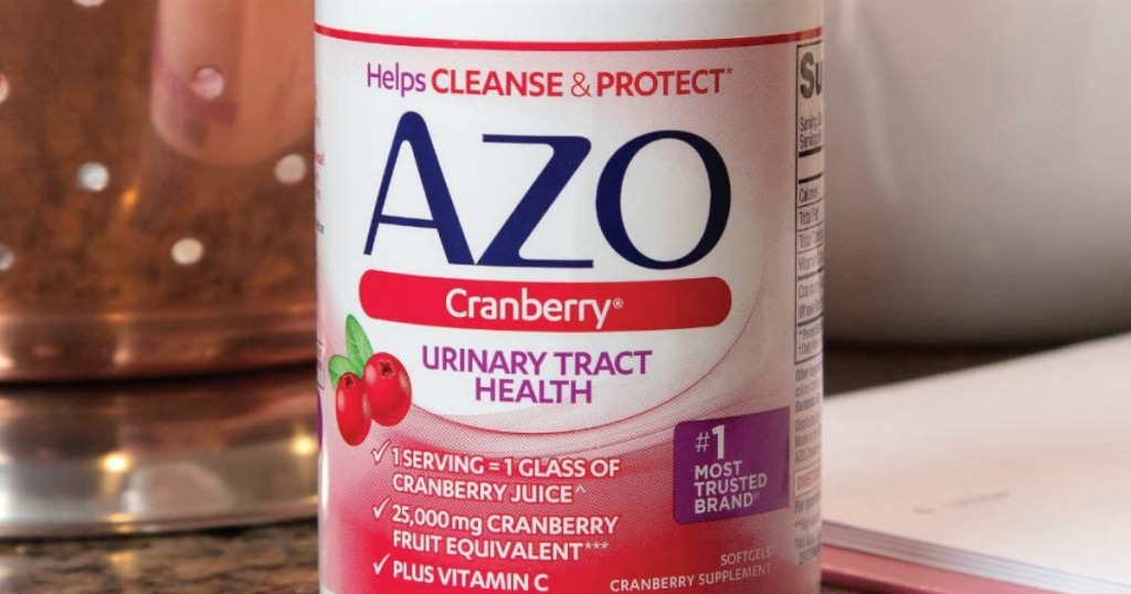 AZO cranberry softgels bottle