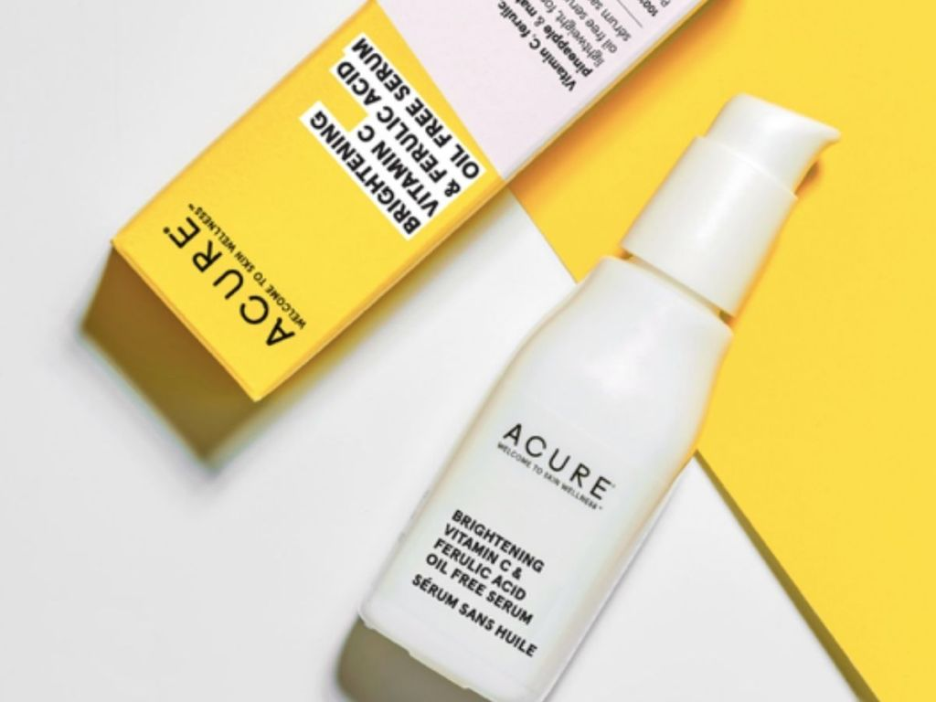 package of Acure Brightening Serum on white background