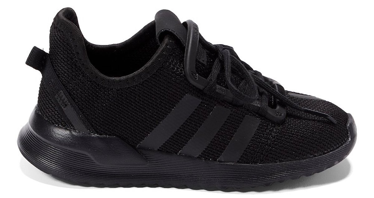 black pair of Adidas Core Black U Path Run Sneakers for Kids