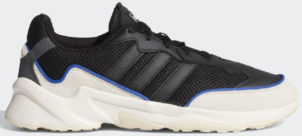 black and cream adidas men's athletic shoes
