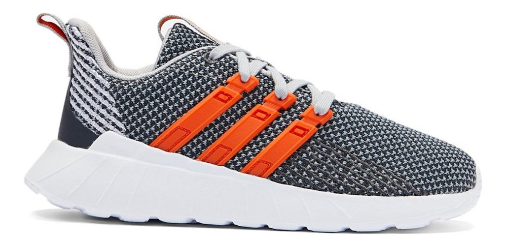 adidas kids grey and orange Adidas Questar Flow Running Shoes for Kids