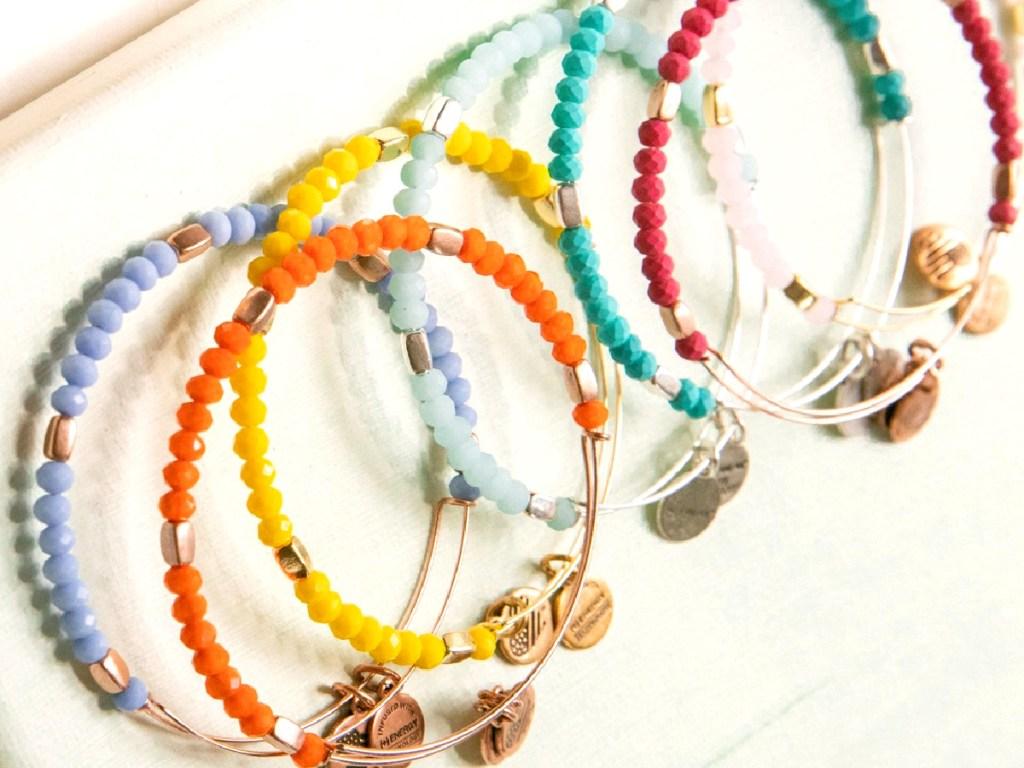 colorful beaded charm bracelets