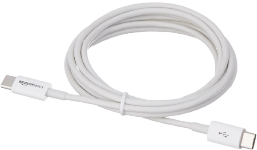 white USB charging cable