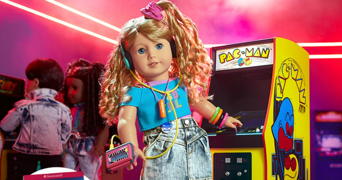 80s themed girls doll with accessories