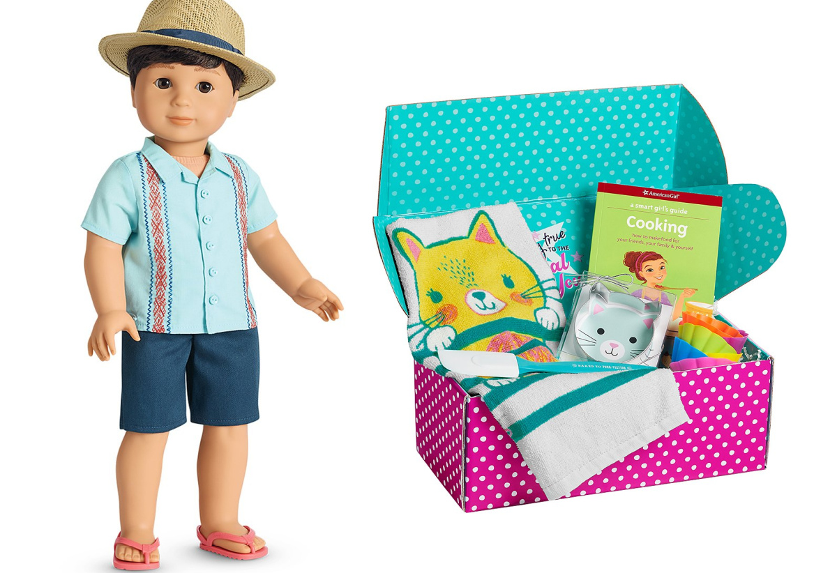 American Girl Sun with Fun Outfit and Cooking Smart Girl's Guide Box