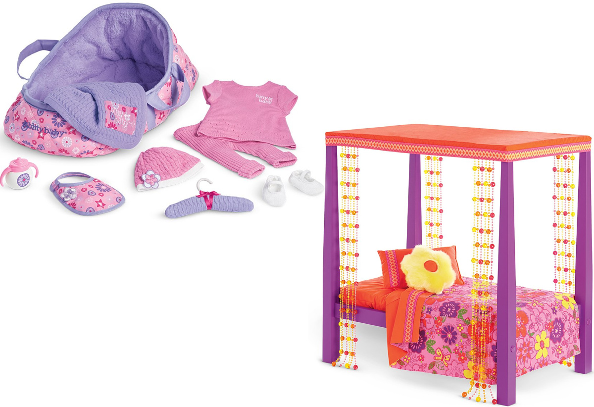 American Girl Welcome Home Doll Accessory Set and Julies Bed with Bedding
