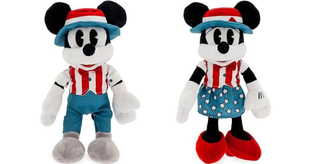 Americana Mickey and Minnie plush