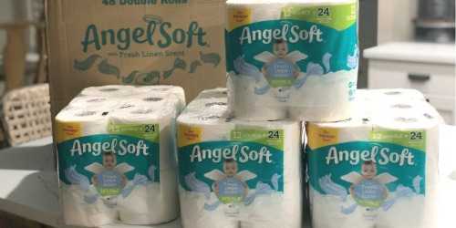 Angel Soft Toilet Paper Double Rolls 48-Count Only $22.99 on Amazon | Just 48¢ Per Roll