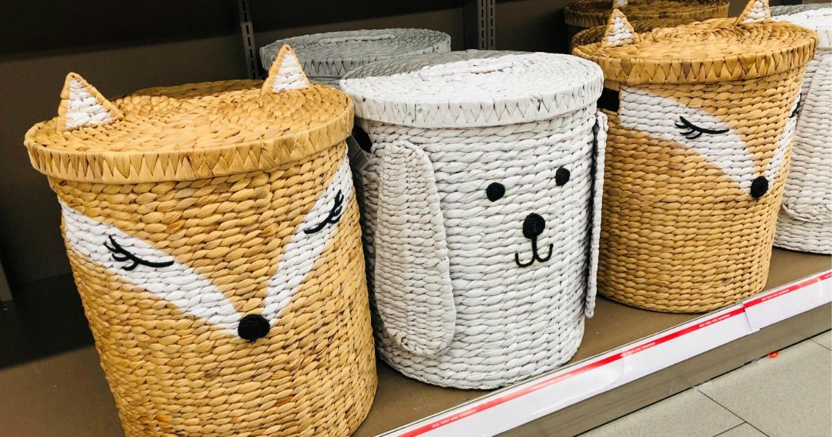 Animal Baskets on store shelf