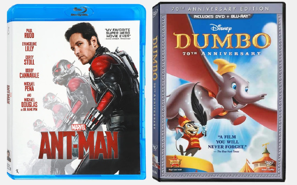 Ant-Man and Dumbo 70th Anniversary Edition Blu-ray Combo Pack