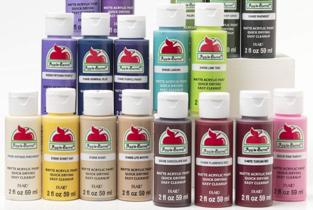 wide variety of Apple Barrel acrylic paint