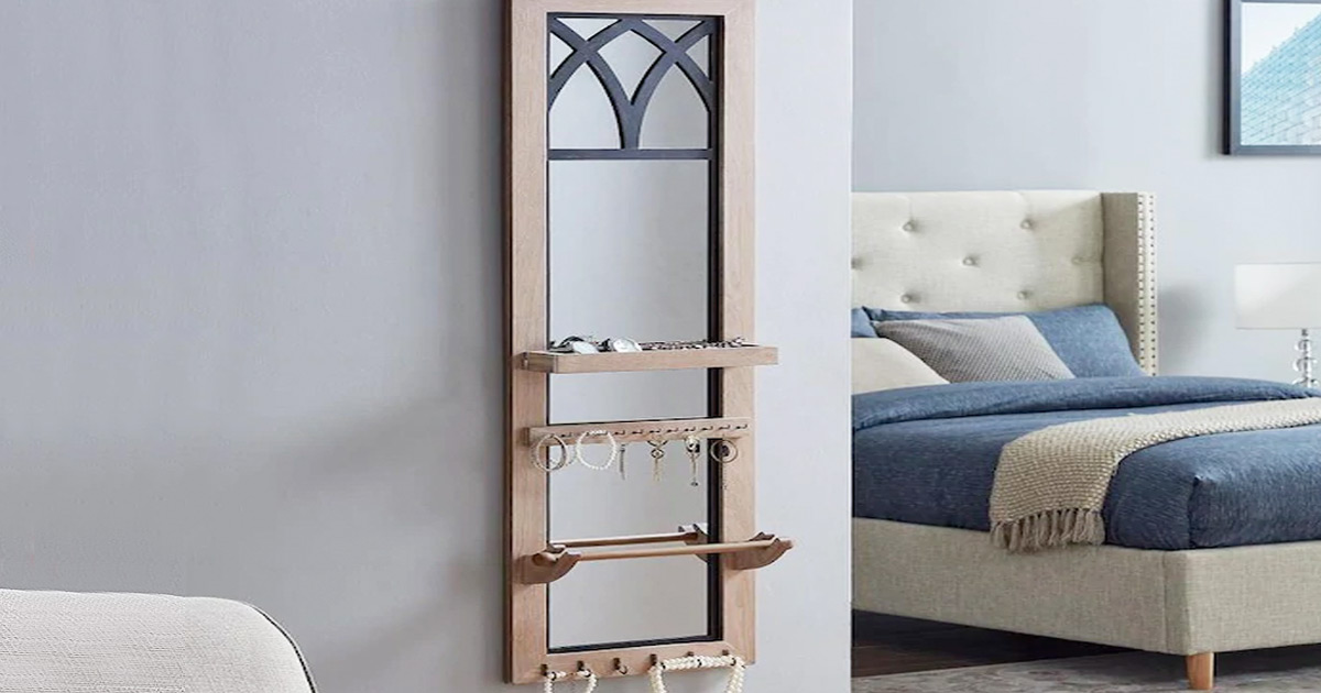 mirrored jewelry organizer just 23 53 shipped on lowes regularly 57