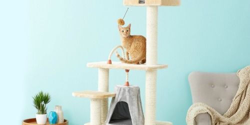 HUGE Faux Fur Cat Tree & Condo Only $51.62 Shipped (Regularly $149)
