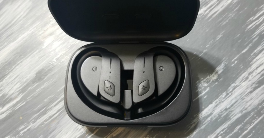 earbuds in charging case
