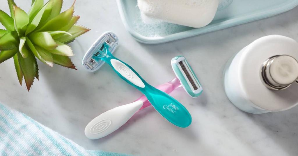 BIC soleil advances razors in bathroom