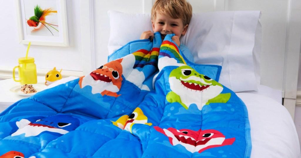 Baby Shark Kids Weighted Blanket