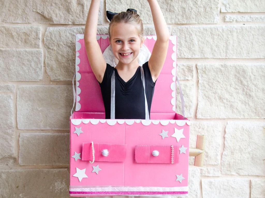 diy ballerina Jewelry box costume