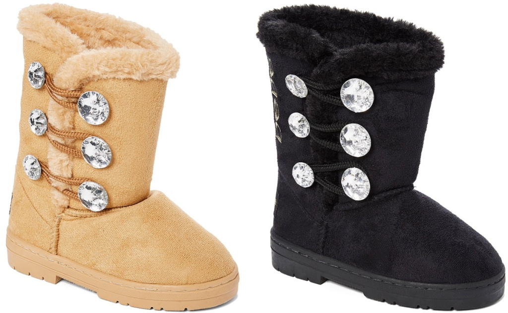 3 pairs of shearling bebe girls boots