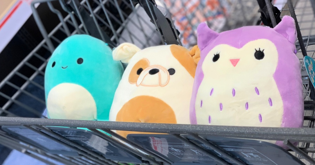 Bee Happy Baby Squishmallows in shopping cart