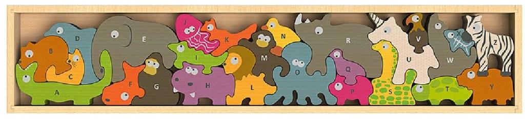 dinosaur ABC puzzle set