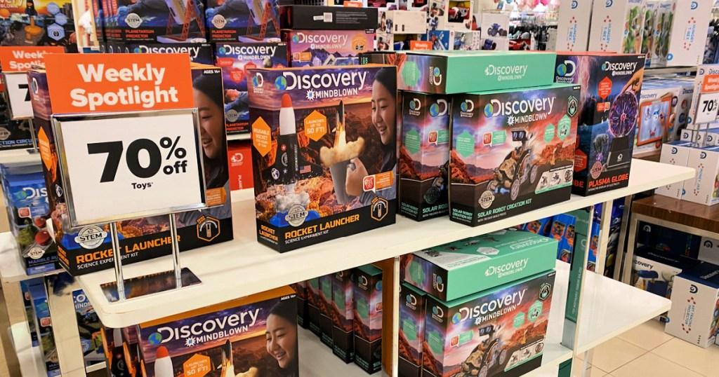 Belk Discovery Toys on shelf