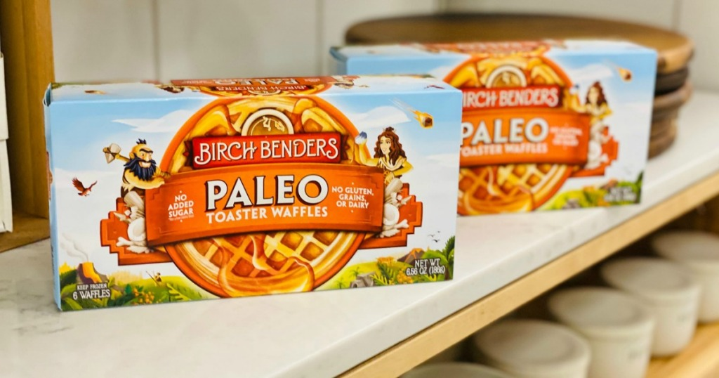 Birch Bender Paleo Waffles on shelf