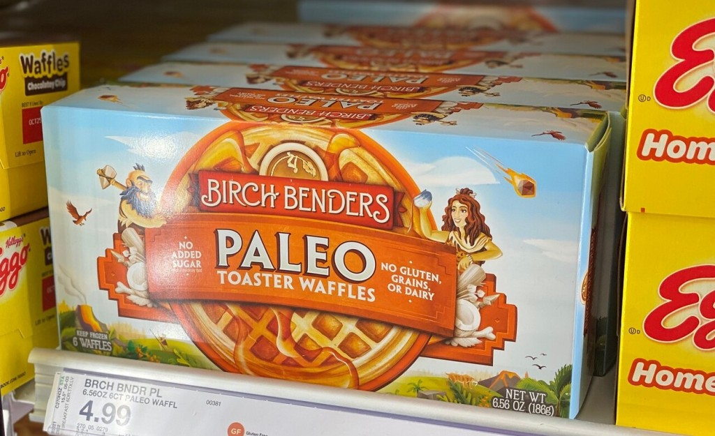 Birch Bender Waffles in cooler at store