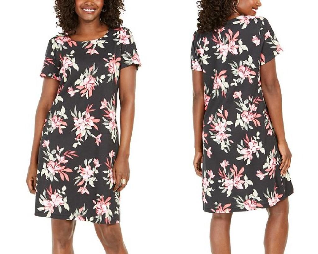 karen scott dress bali printed dress