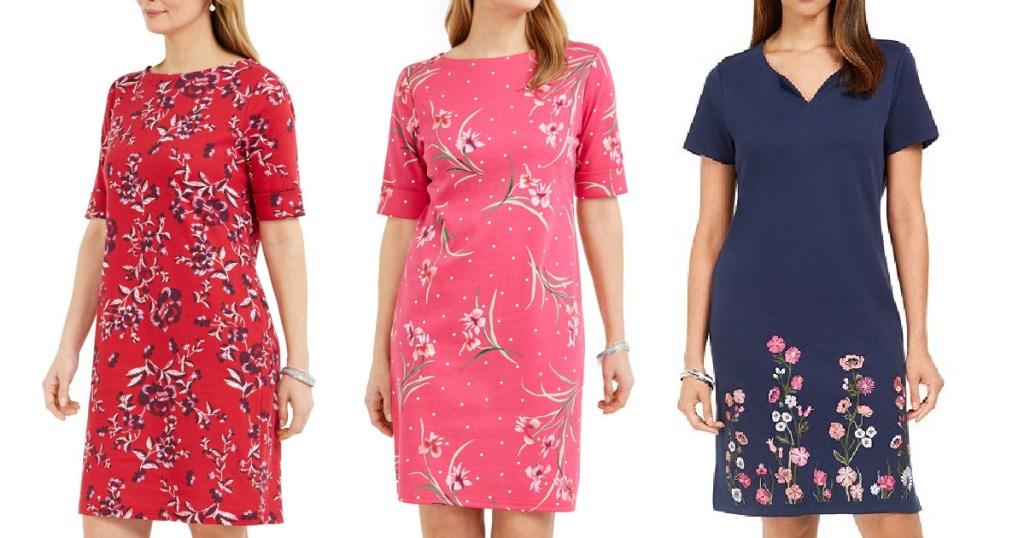 karen scott womens dresses three styles