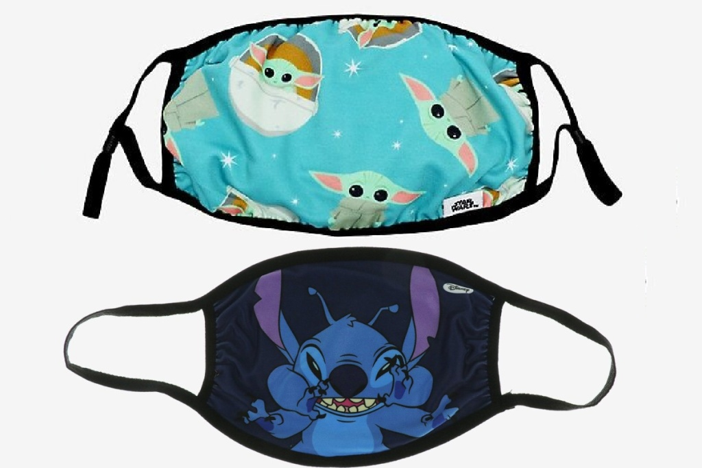 disney reusable face masks baby yoda and stitch