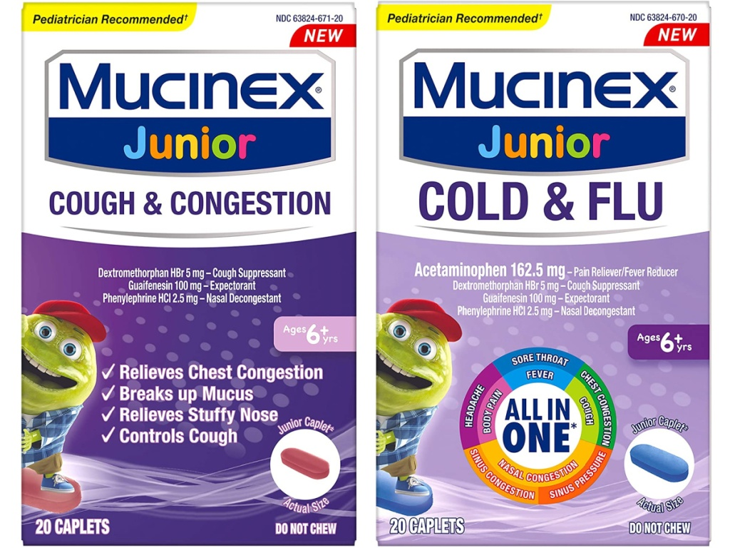 mucinex junior two packs side by side