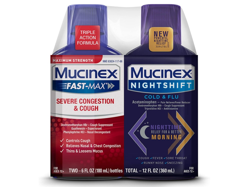 mucinex fast act and nightshift twin pack