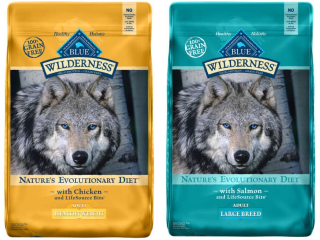 2 large bags of blue buffalo dog food