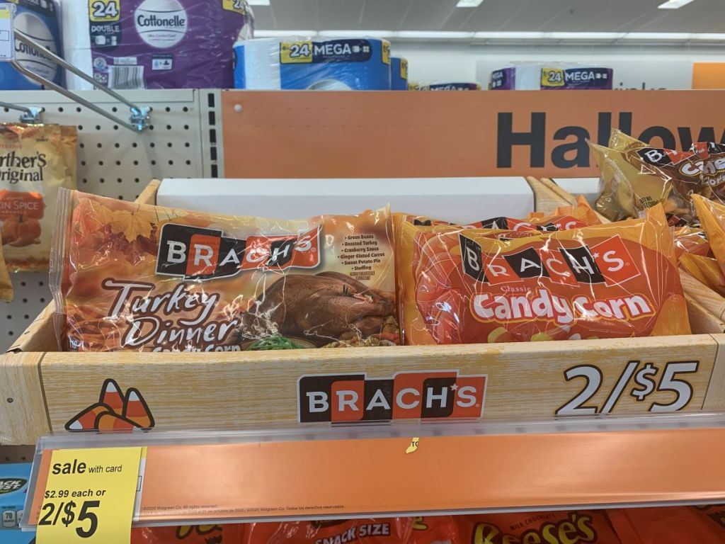 candy corn on shelf at Walgreens