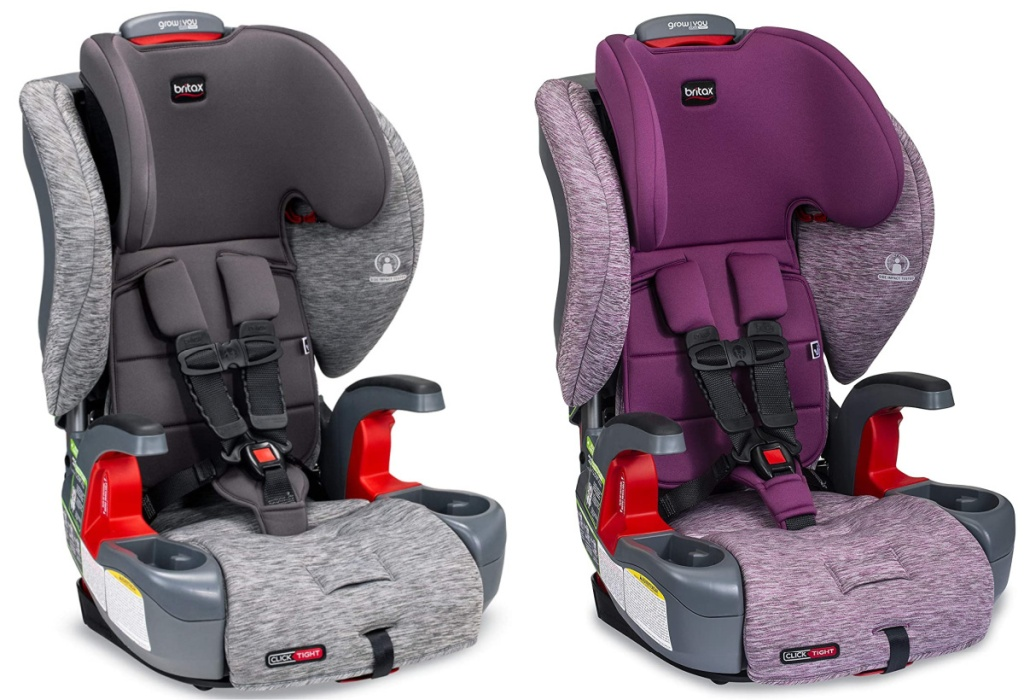 2 Britax Grow with me car seat sitting next to each other
